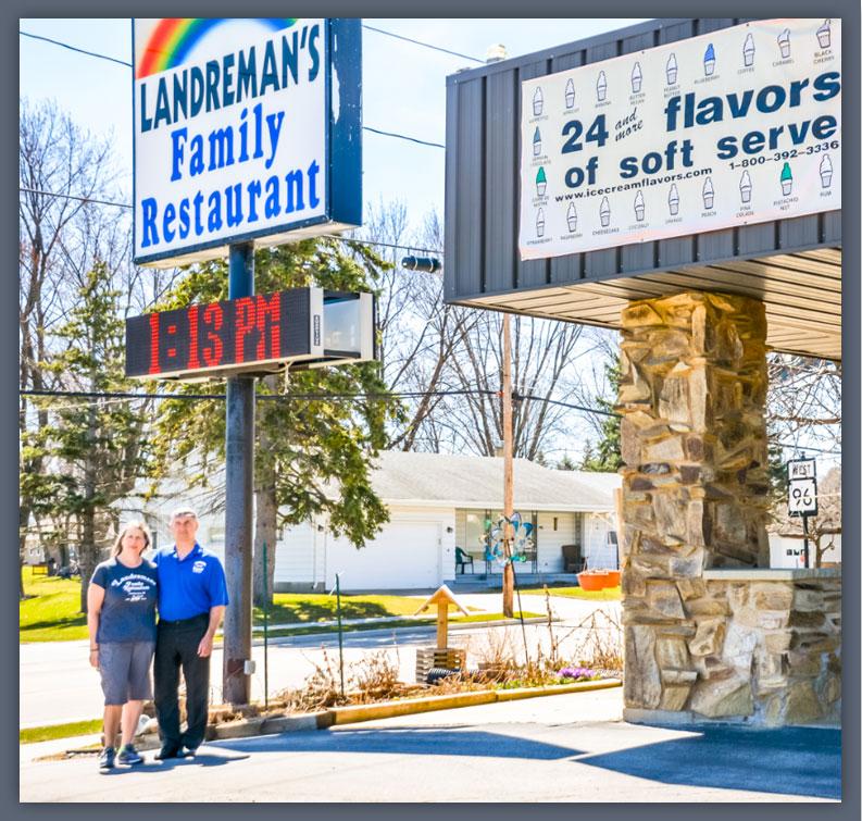 Landreman's outside restaurant